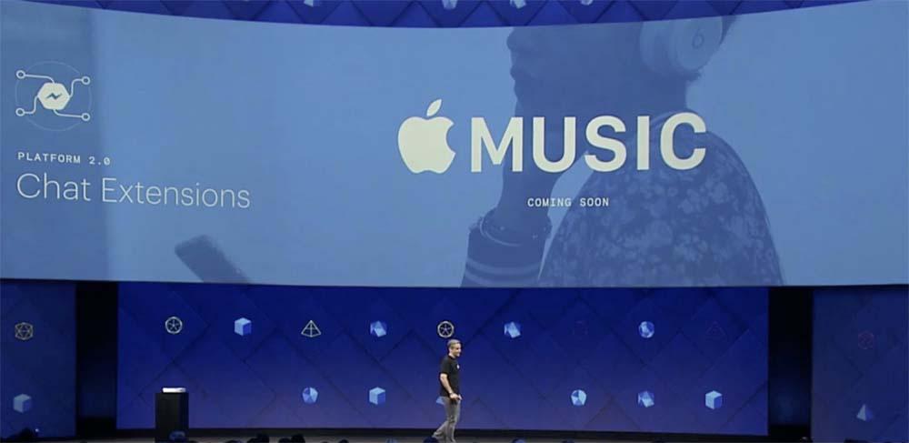 Apple Music FB Apple Music est à présent disponible sur Messenger