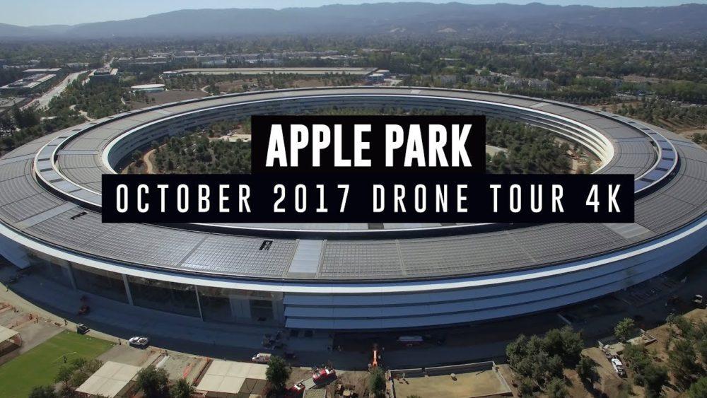 Apple Park Octobre 2017 Apple Park : un nouveau survol en drone montre lavancée des travaux