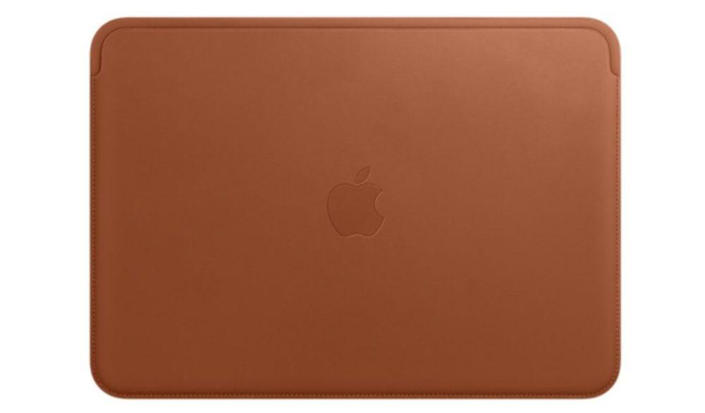Housse MacBook Une housse pour MacBook Retina en cuir véritable signée Apple en vente