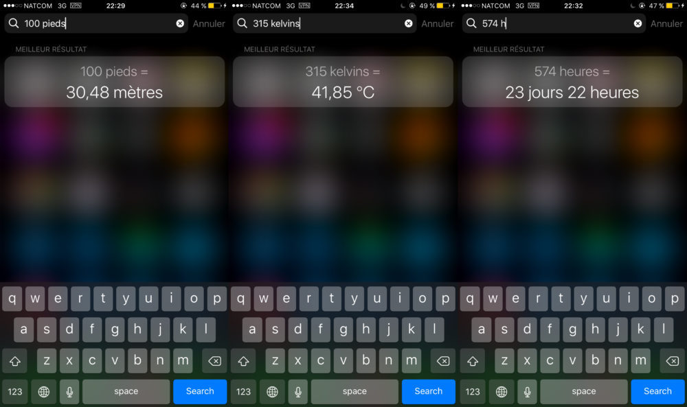 Spotlight Unites 1000x593 Comment convertir des devises et des unités avec Spotlight sur iPhone