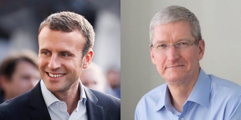 Tim Cook Macron Emmanuel Macron va rencontrer Tim Cook aujourdhui