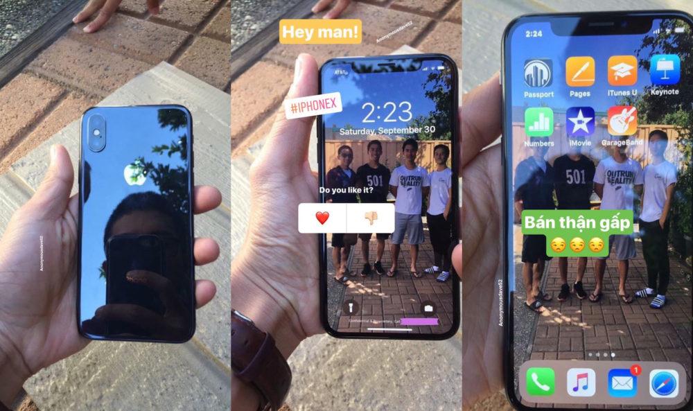 iPhone X Circulation Vidéo : un iPhone X déjà en circulation, nouveaux fonds décran dynamiques ?