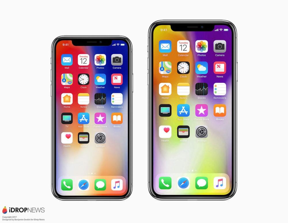 Concept : un iPhone X Plus comparé à un iPhone X