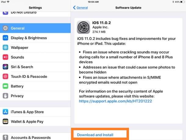 ios 11 0 2 software update ipad Comment passer dune version bêta à une version finale diOS 11
