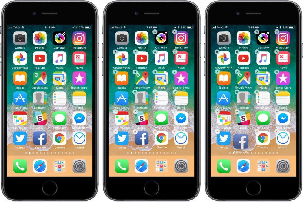ios 11 deplacer simultanement plusieurs applications 1000x668 Comment déplacer plusieurs icônes dapplis sur iOS 11