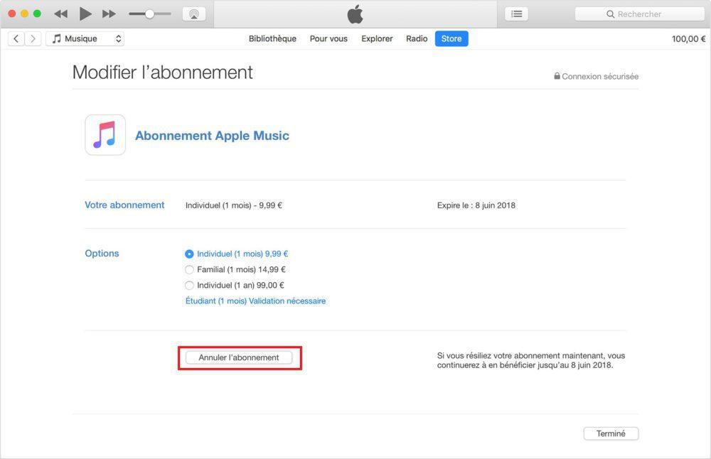itunes menu abonnement 1000x646 Tutoriel : comment modifier ou annuler les abonnements de lApp Store