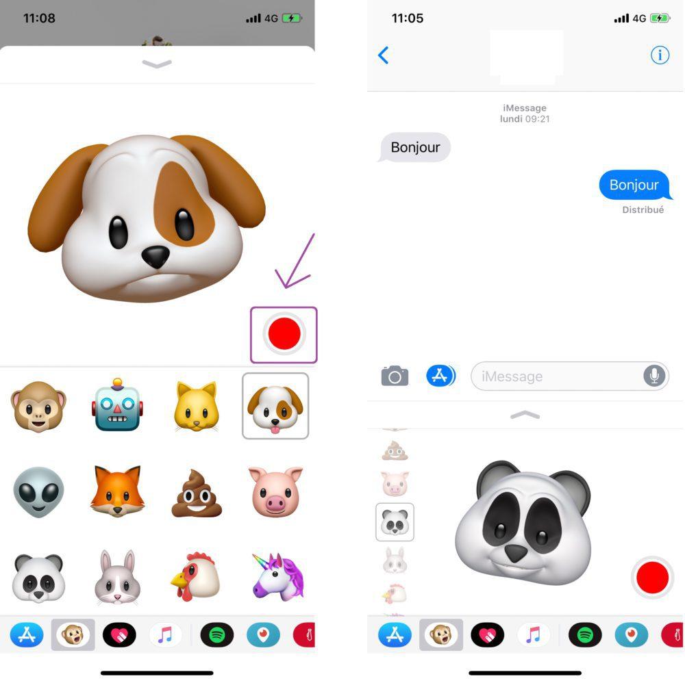 Animoji Enregistrement 1000x998 Tuto iPhone X : comment créer, sauvegarder et partager les Animojis