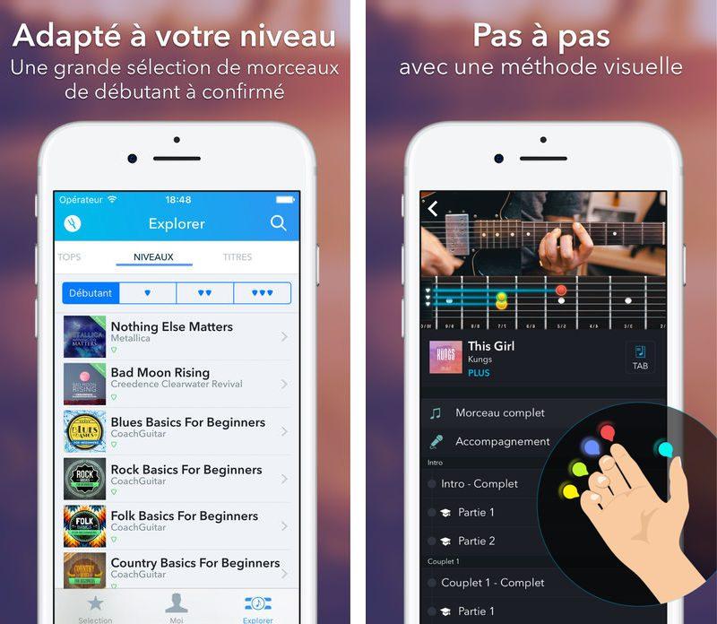 CoachGuitar 2 CoachGuitar : apprendre la guitare sur iPhone/iPad na jamais été aussi facile !