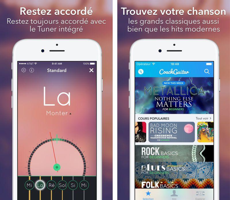 CoachGuitar CoachGuitar : apprendre la guitare sur iPhone/iPad na jamais été aussi facile !