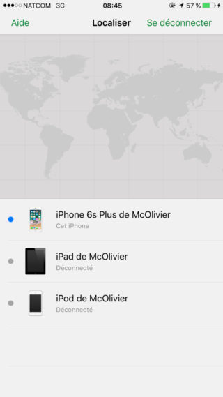 Localiser Mon iPhone Appareils 320x569 Guide : comment utiliser Localiser mon iPhone