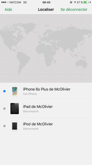 Localiser Mon iPhone Appareils 320x569 Guide : comment utiliser Localiser mon iPhone