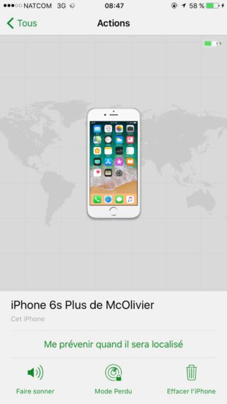 Localiser Mon iPhone iPhone 320x569 Guide : comment utiliser Localiser mon iPhone