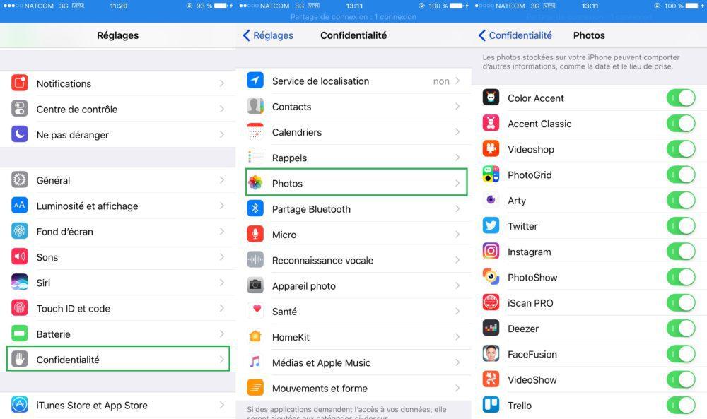 iOS Vie Privee Acces Apps 1000x593 8 astuces pour mieux protéger votre vie privée sur iPhone