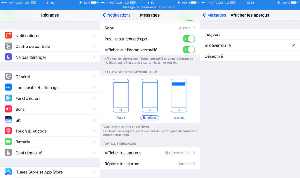 iOS Vie Privee Apercus Notification Apps 1000x593 8 astuces pour mieux protéger votre vie privée sur iPhone