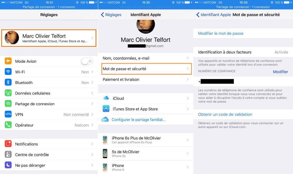 iOS Vie Privee Apple ID Authentification Deux Facteurs 1000x594 8 astuces pour mieux protéger votre vie privée sur iPhone