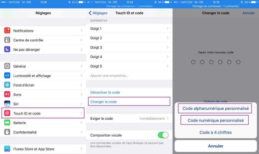 iOS Vie Privee Touch ID Et Code 1000x594 8 astuces pour mieux protéger votre vie privée sur iPhone