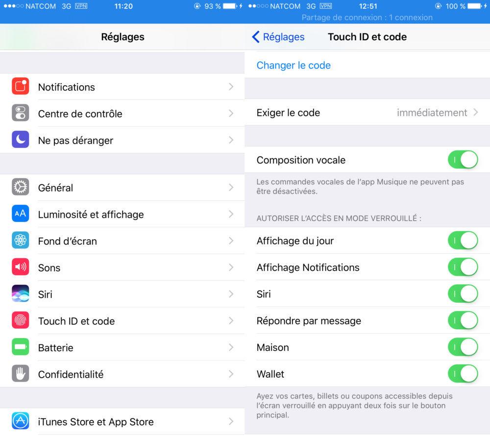 iOS Vie Privee Touch ID Et Code Acces Verouille 1000x890 8 astuces pour mieux protéger votre vie privée sur iPhone