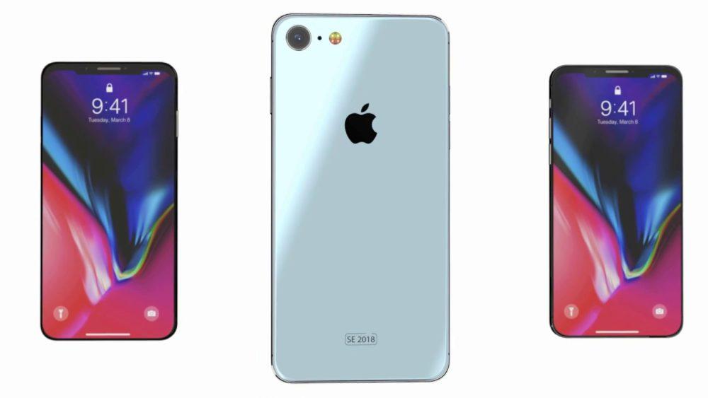 iPhone SE 2 Concept Un concept diPhone SE 2 très similaire à liPhone X