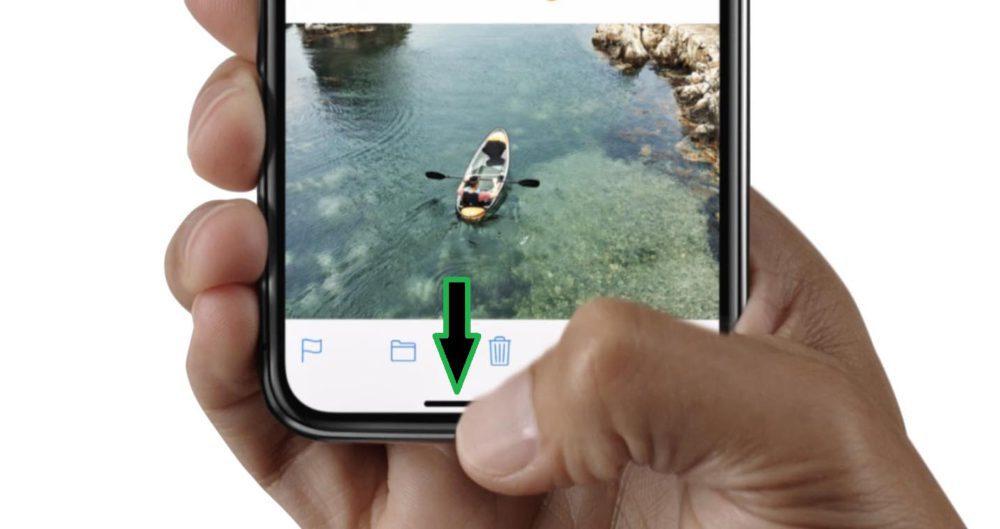 iPhone X Gestes 1 1000x529 Voici quelques astuces pour bien maîtriser liPhone X