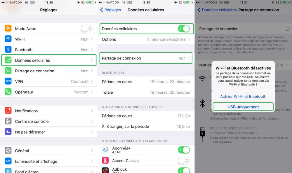 Partage Connexion Internet iPhone Tuto 1000x593 Guide : comment partager la connexion internet dun iPhone ou dun iPad