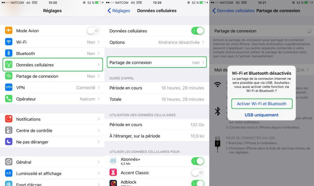 Partage Connexion Internet iPhone iPad Tuto 1000x593 Guide : comment partager la connexion internet dun iPhone ou dun iPad