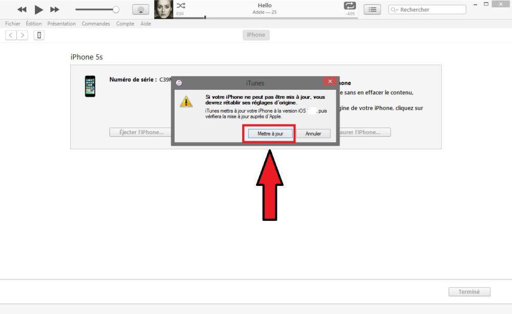 iOS iTunes Mise a Jour 1000x613 Tuto : comment passer ou downgrade sur iOS 11.1.2 en attendant le jailbreak