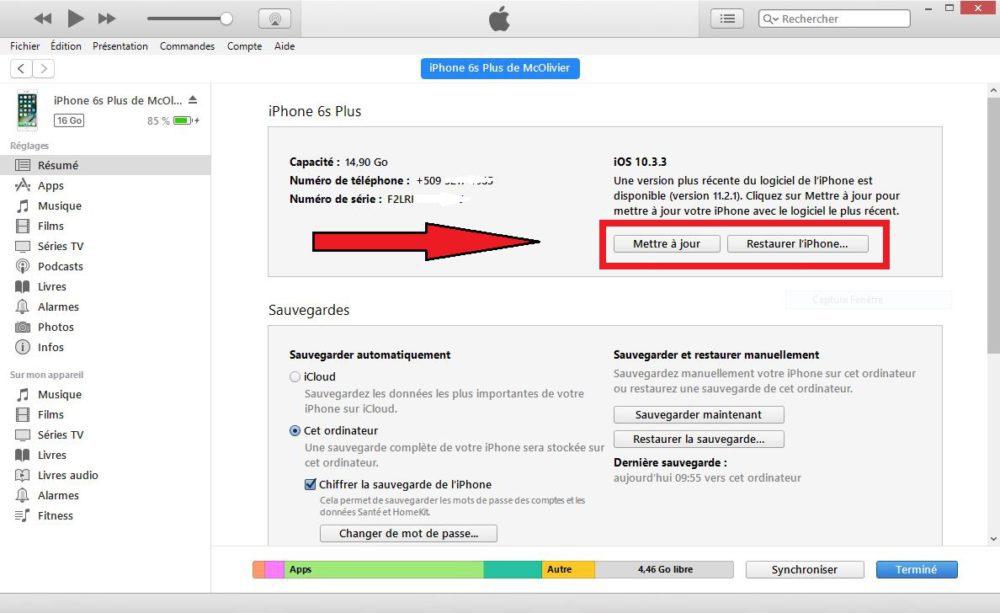 iTunes Downgrade 1000x613 Tuto : comment passer ou downgrade sur iOS 11.1.2 en attendant le jailbreak