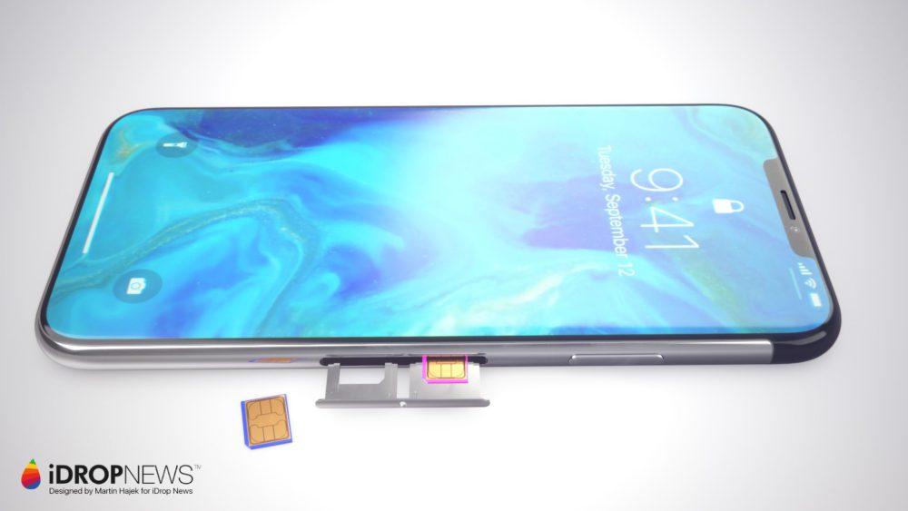 Concept iPhone XI 3 Un concept diPhone XI avec double carte SIM et encoche réduite