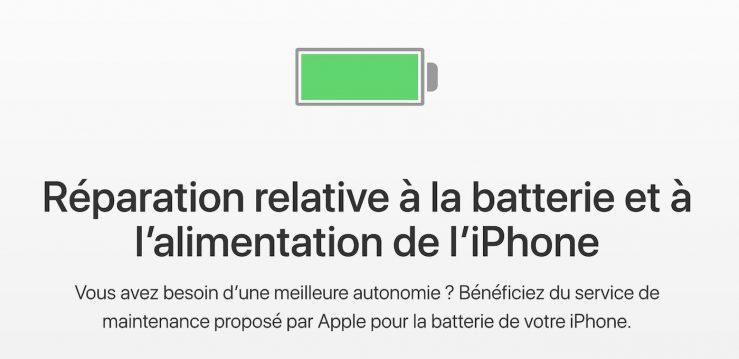 Remplacement Batterie iPhone Batteries des iPhone à 29€ : le remplacement est limité à une réparation par iPhone