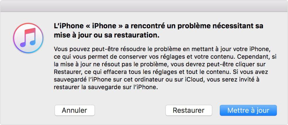 itunes recovery mode update Mot de passé oublié : comment débloquer ou déverrouiller un iPhone