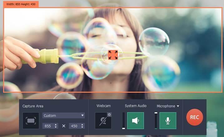 screen capture Movavi Screen Recorder, le logiciel de capture vidéo tendance