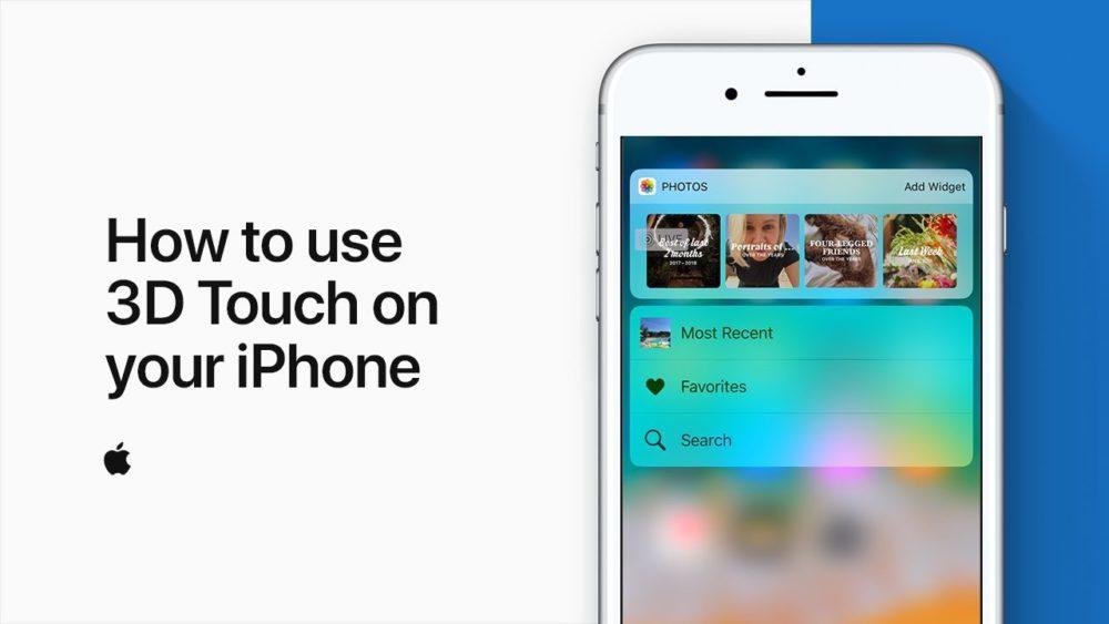3D Touch Tuto Apple Vidéo : Apple vous montre comment utiliser 3D Touch sur iPhone