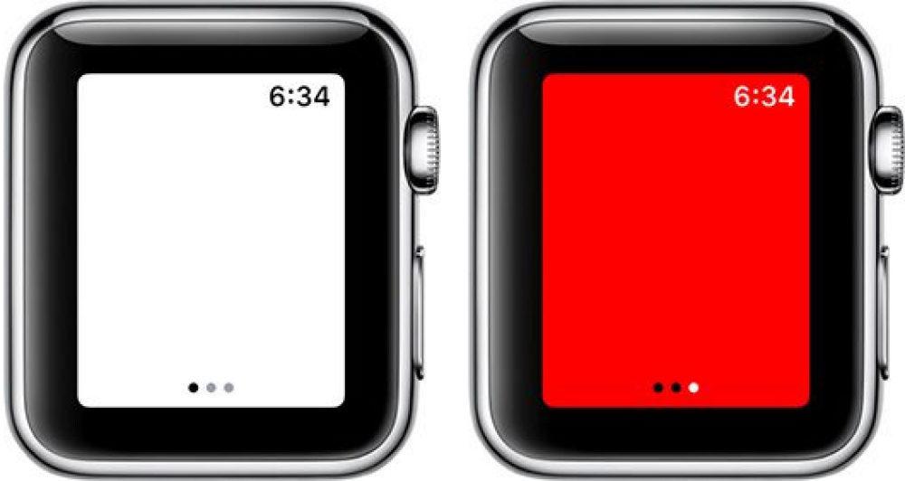 Apple Watch Lampe Torche Ecran Rouge 1000x532 Comment utiliser votre Apple Watch comme lampe torche