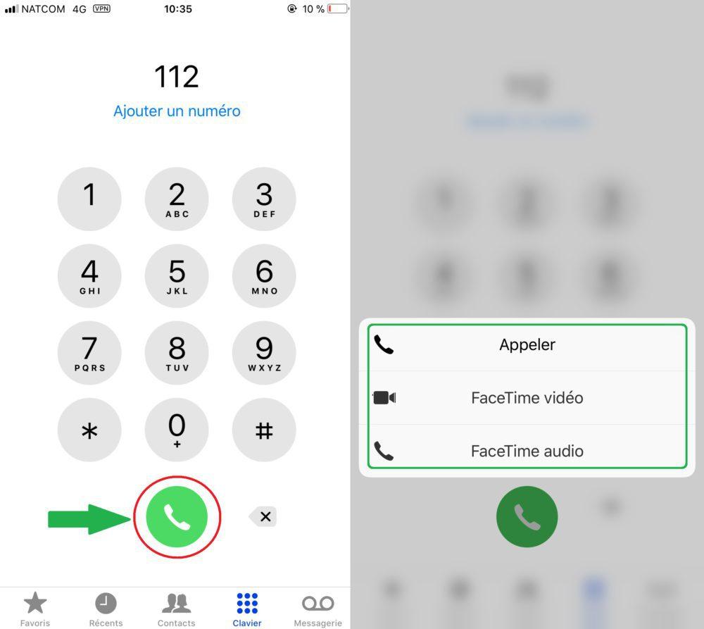 Astuce iOS 11 FaceTime Numero Rapidement 1000x893 6 astuces sur iOS 11 que vous ignoriez peut être