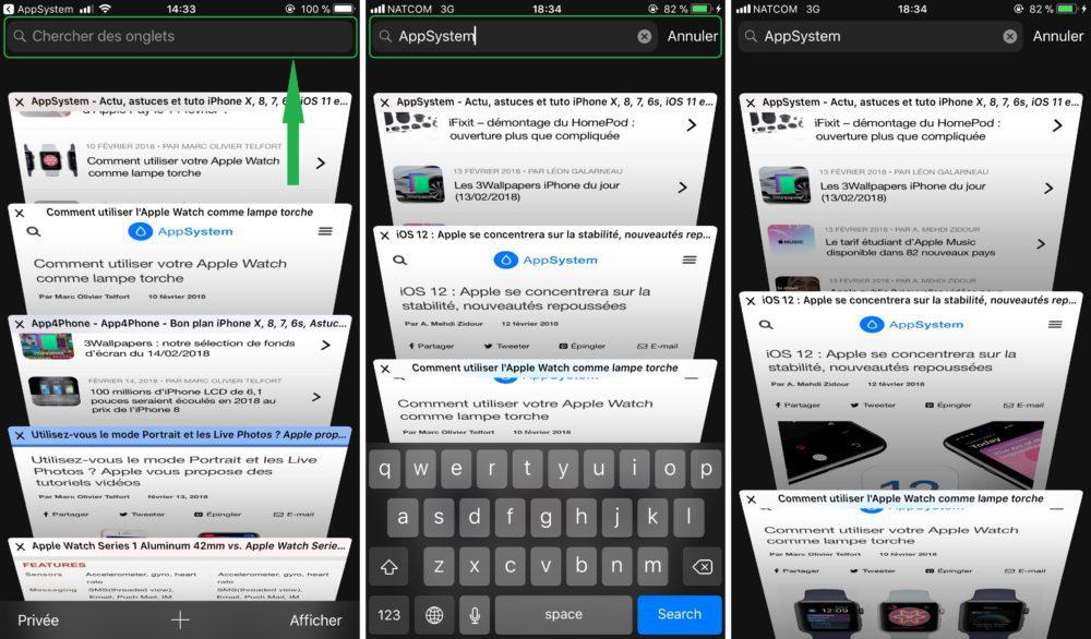Astuce iOS 11 Rechercher Onglet Safari 1000x586 6 astuces sur iOS 11 que vous ignoriez peut être