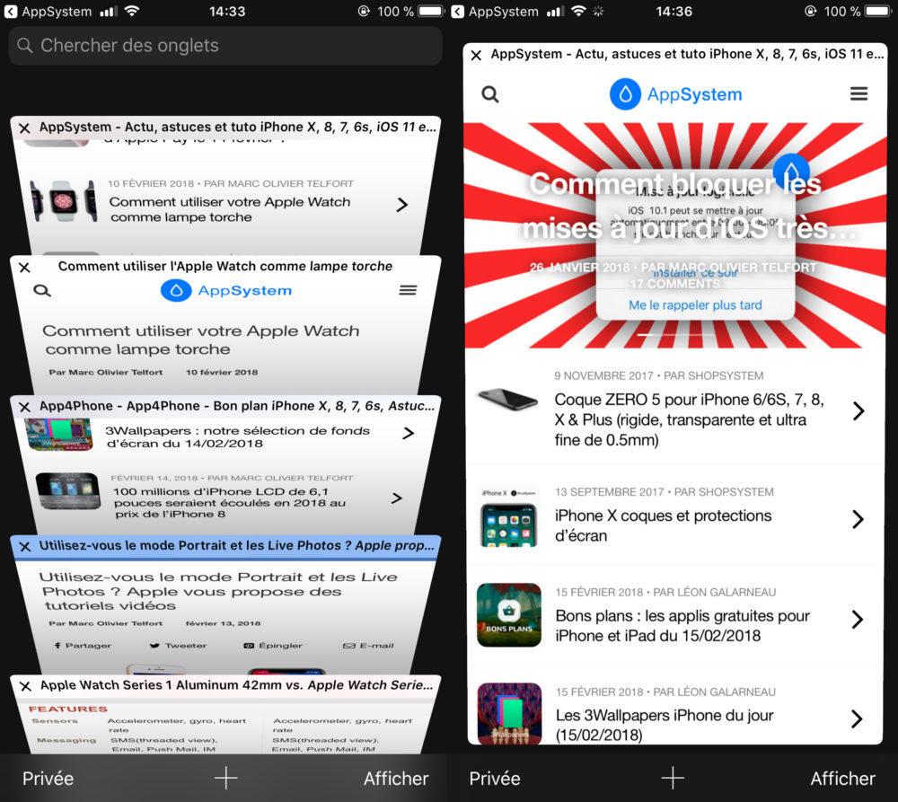 Astuce iOS 11 Voir Apercu Onglet Safari Rapidement 1000x893 6 astuces sur iOS 11 que vous ignoriez peut être