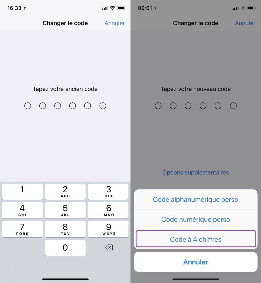 Changer Code iPhone 4 Chiffres Entrer Ancien Code 1000x1083 Astuce : comment définir un code de déverrouillage à 4 chiffres sur iPhone