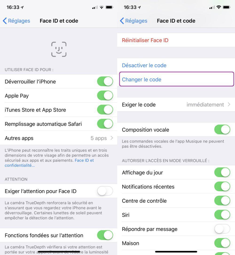 Changer Code iPhone 4 Chiffres Face ID Code Changer 1000x1086 Astuce : comment définir un code de déverrouillage à 4 chiffres sur iPhone