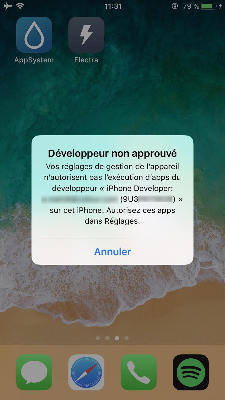 IMG 2751 Tutoriel Jailbreak iOS 11 avec loutil Electra (installation de Cydia)