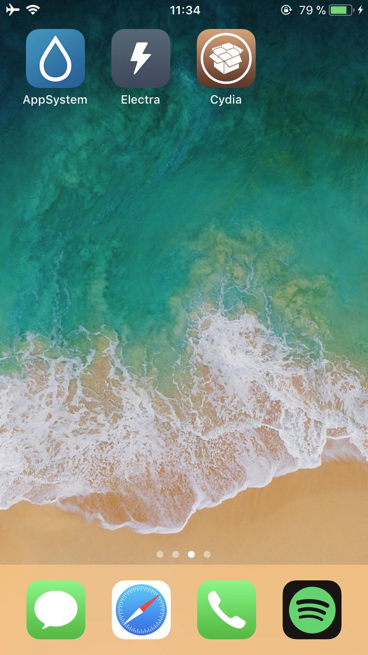 IMG 2759 Tutoriel Jailbreak iOS 11 avec loutil Electra (installation de Cydia)