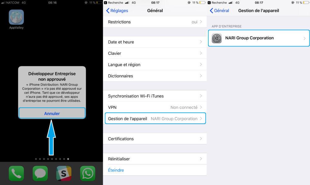 AppValley Autorisation 1000x596 AppValley : cracker les applis payantes de lApp Store sans Jailbreak