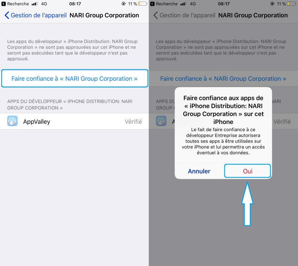 AppValley Autorisation Suite 1000x890 AppValley : cracker les applis payantes de lApp Store sans Jailbreak