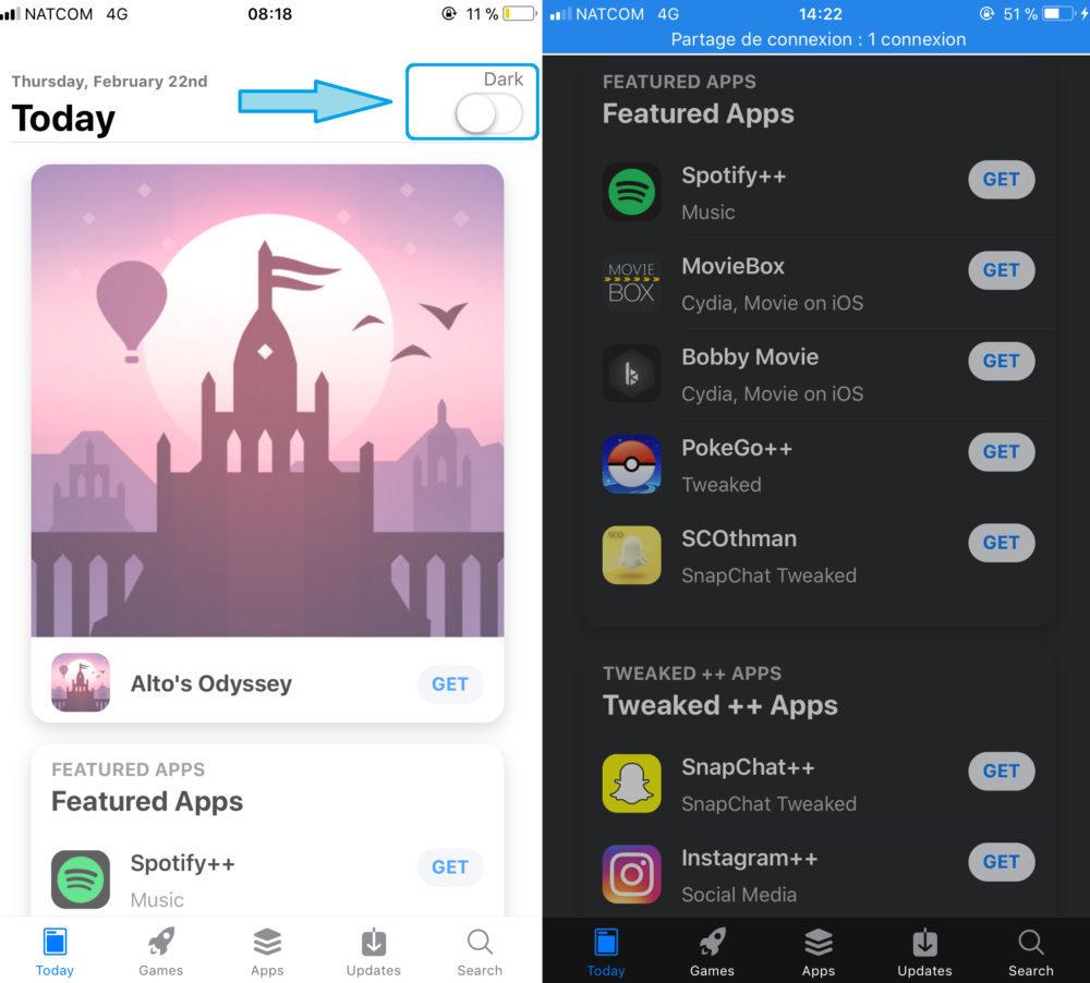 AppValley Mode Nuit 1000x902 AppValley : cracker les applis payantes de lApp Store sans Jailbreak