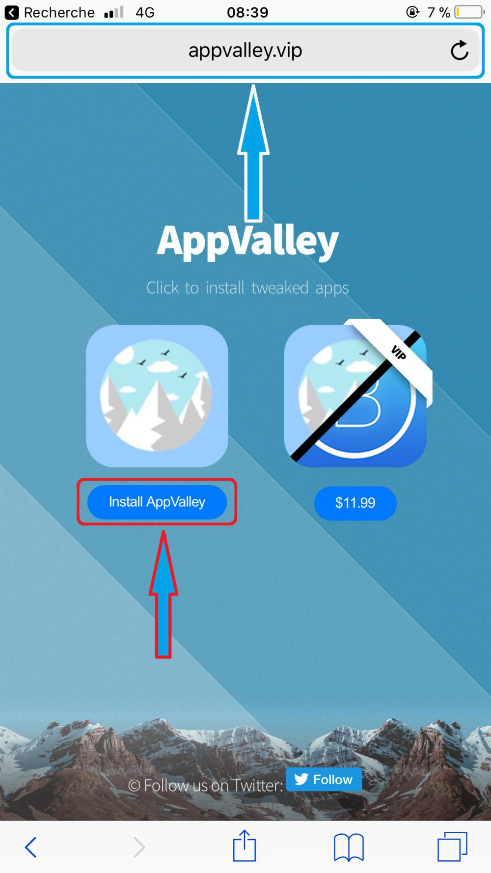 AppValley Safari Installation 1000x1778 AppValley : cracker les applis payantes de lApp Store sans Jailbreak