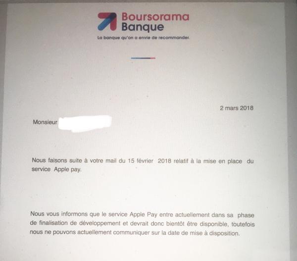 Boursorama Communique Officiel : larrivée dApple Pay chez Boursorama est imminente