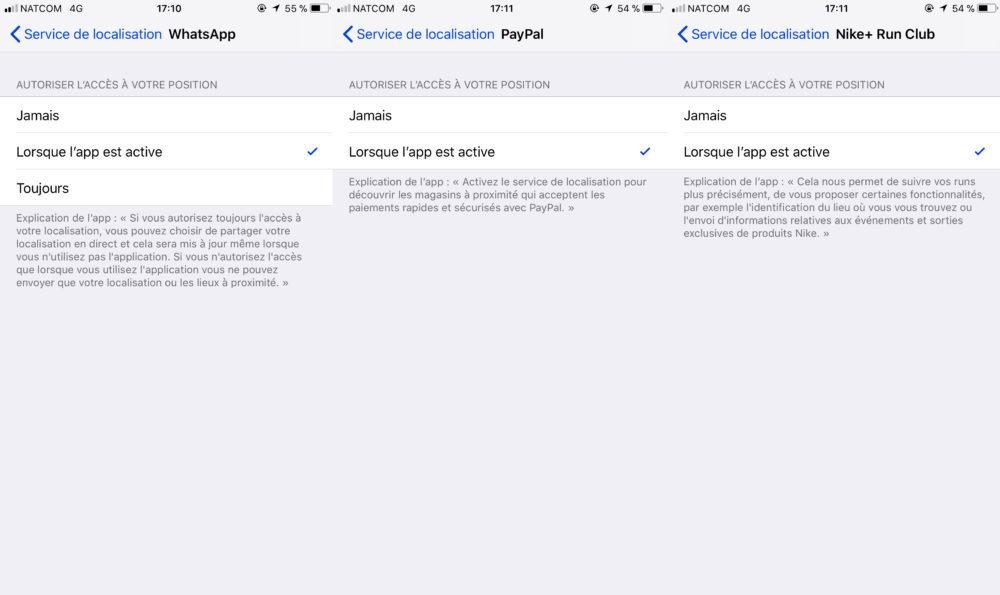 Donnees Localisation Apps 1000x595 Comment protéger les données de localisation de votre iPhone sur iOS 11