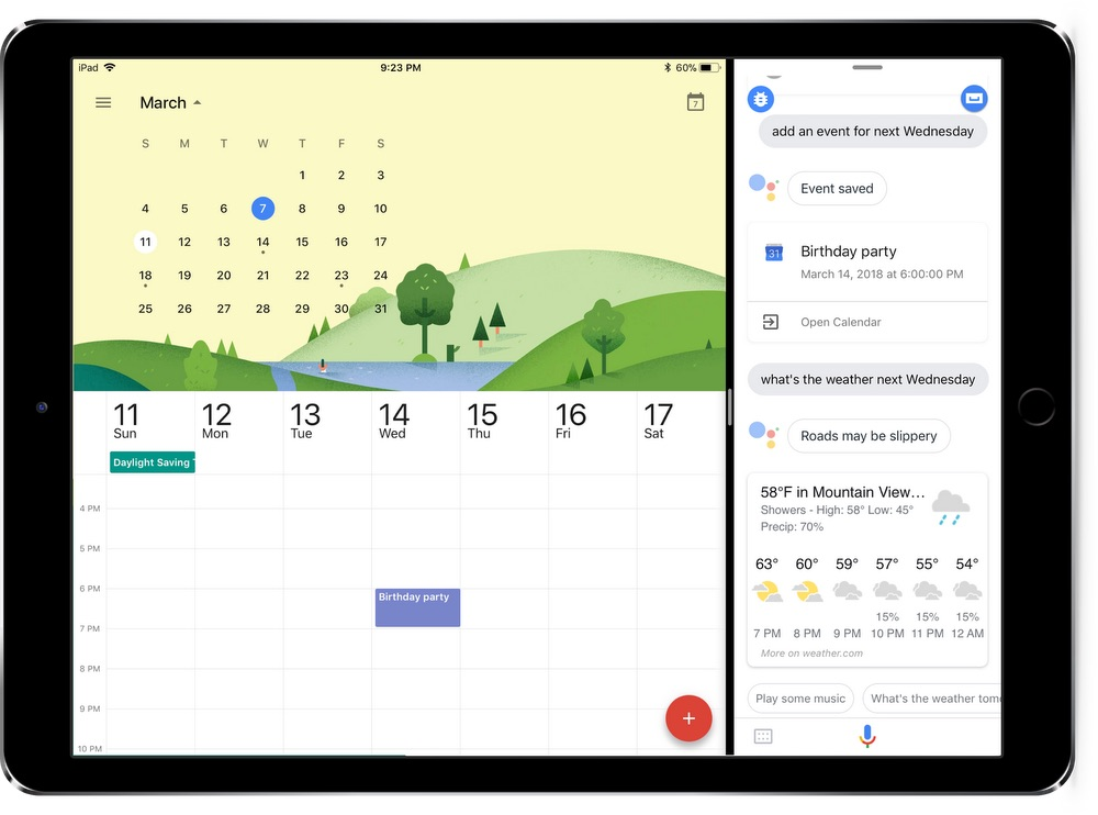 Google Assistant Slide Over Google Assistant désormais disponible sur iPad