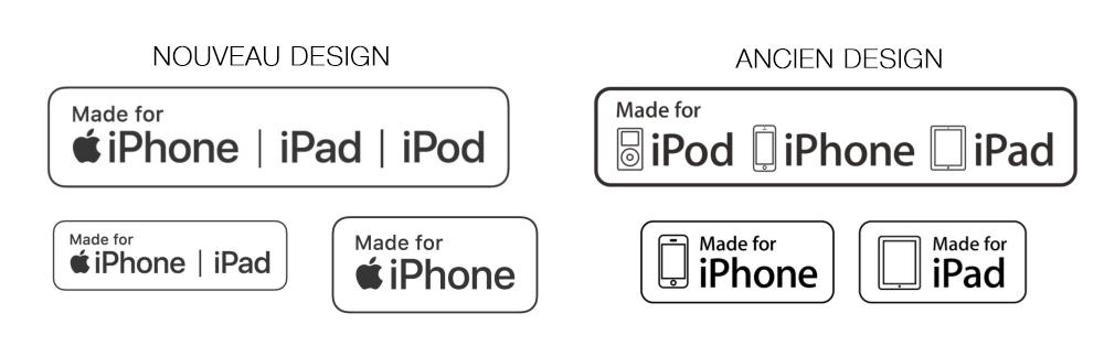 Nouveau MFI Apple change le label des accessoires MFi