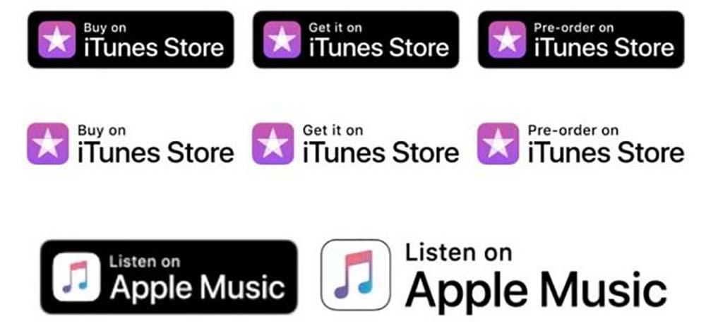 Nouveaux Logos iTunes Affiles Lifting des logos iTunes Store et Apple Music pour les affiliés