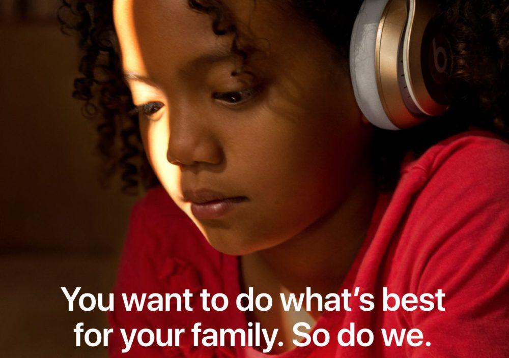 Rubrique Families Apple Apple propose une nouvelle rubrique dédiée aux parents sur son site
